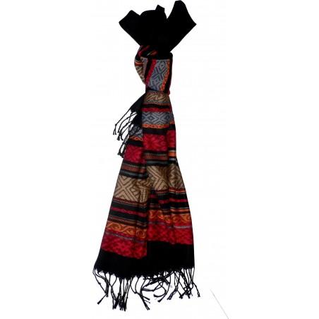 Foulard arabesque à franges